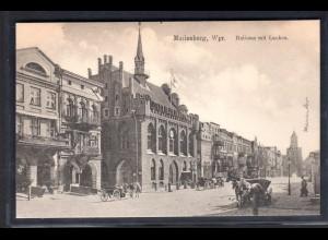 Marienburg, Wpr. Rathaus mit Lauben