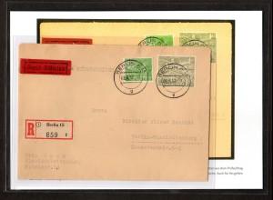 Berlin Eilboten/Einschreib-Ortsbrief mit Nr. 57