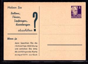 """DDR Privatganzsache mit Antwort """" Peters Chemnitz"""""""