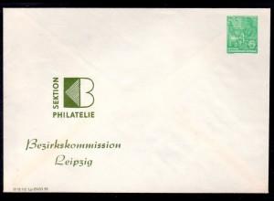 """DDR Privatganzsache """" Sektion Philatelie/Leipzig"""""""