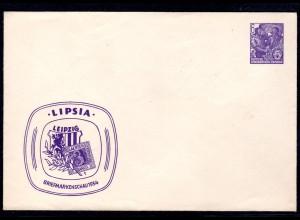 "DDR Privatganzsache "" Lipsia Briefmarkenschau 1954"""