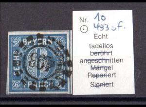 Bayern offener Mühlradstempel 493 of auf 10