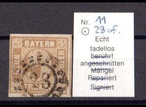 Bayern offener Mühlradstempel 28 of auf 11