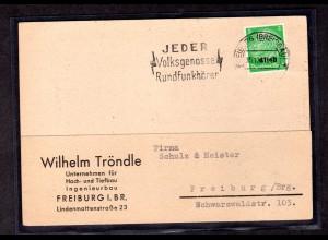 Dt. Besetzung Elsaß Ortskarte Freiburg