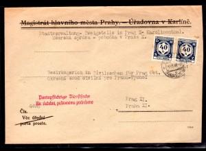 B&M Dienst-Oertsbrief mit 2x D2