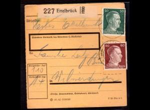 Dt. Besetzung Luxemburg Paketkarte Ettelbrück