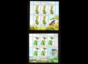 Weißrussland Kl. Mi.-Nr 1021-22 Invasive Pflanzen, postfrisch