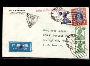 Zensurbrief von Indien nach USA, 1942