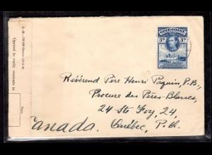 Zensurbrief von Goldküste nach Canada, 1943