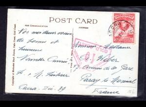 Zensurbrief von Goldküste nach Frankreich, 1939