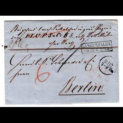 Altbrief Paketbegleitbrief von Langensalza nach Berlin, einwandfrei