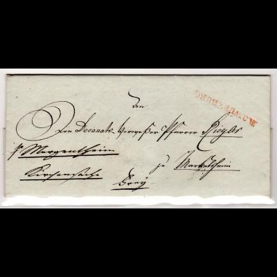 Vorphila Kirchenbrief von Würzburg nach Margenthin, 1810, einwandfrei