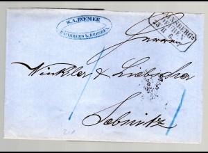 Vorphila Brief von Hainsberg-Deuben nach Sebnitz