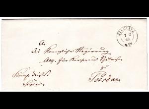 Vorphila Brief von Steglitz nach Potsdam