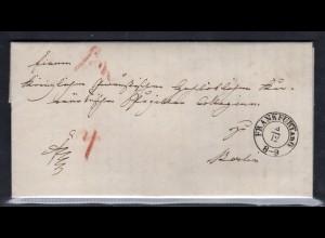 Vorphila Kompletter Brief 1845 von Frankfurt nach Berlin