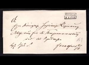Vorphila Kompletter Brief von Beeskow nach Ff / O