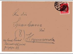 AP 788 auf Brief Von Zwickau nach Hoyerswerda 23.7.45