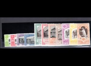Rumänien, Mi.-Nr. 197-207, sauber entfalz, fast postfrisch.