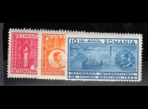 Rumänien, Mi.-Nr. 443-5, sauber entfalz, fast postfrisch.