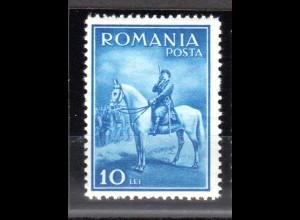 Rumänien, Mi.-Nr. 438 ungebraucht, Erstfalz.