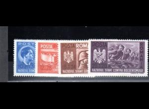 Rumänien, Mi.-Nr. 706-9 postfrisch