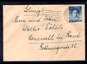 Berlin, Ausland-Brief mit EF. Mi.-Nr. 87
