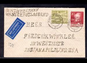 Berlin, Ausland-Brief mit MiF. Mi.-Nr. 57 + 97