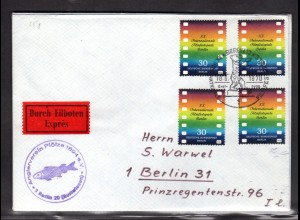 Berlin, Orts-Eilbote-Brief mit MeF. Mi.-Nr. 358, mit Ak-St.