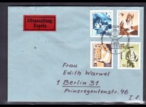 Berlin, Orts-Eilbote-Satzbrief Mi.-Nr. 342-5, mit Ak-St.