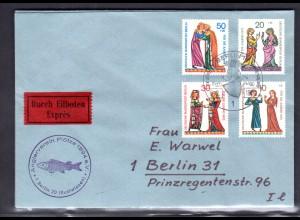 Berlin, Orts-Eilbote-Satzbrief Mi.-Nr. 354-7, mit Ak-St.