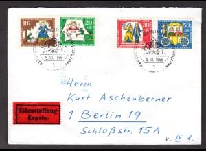 Berlin, Orts-Eilbote-Satzbrief Mi.-Nr. 295-8, mit Ak-St.