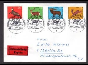 Berlin, Orts-Eilbote-Satzbrief Mi.-Nr. 291-4, mit Ak-St.