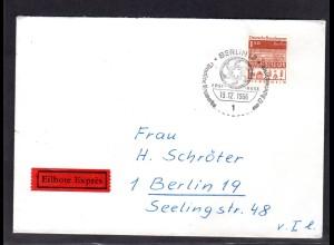 Berlin, Orts-Eilbote-Brief mit EF. Mi.-Nr. 283, mit Ak-St.