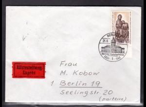 Berlin, Orts-Eilbote-Brief mit EF. Mi.-Nr. 306, mit Ak-St.