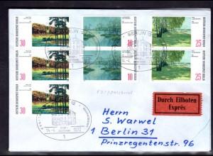 Berlin, Orts-Eilbote-Satzbrief Mi.-Nr. 423-5 mit Ak-St.