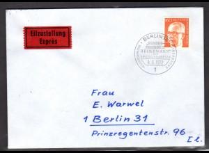 Berlin, Eilbote-Ortsbrief mit EF. Mi.-Nr. 396, mit Ak-St.