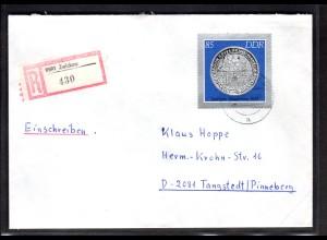 DDR, R-Fernbrief mit EF. Mi.-Nr. 3043