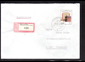 DDR, R-Fernbrief mit EF. Mi.-Nr. 2981