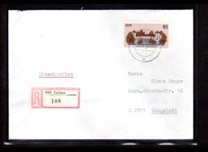 DDR, R-Fernbrief mit EF. Mi.-Nr. 3034