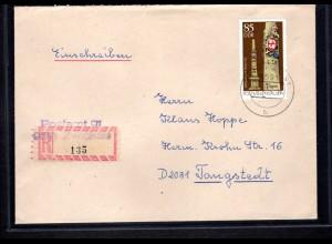 DDR, R-Fernbrief mit EF. Mi.-Nr. 2856