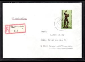 DDR, R-Fernbrief mit EF. Mi.-Nr. 2875