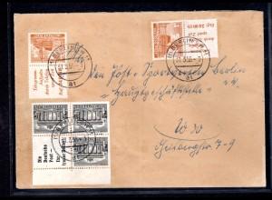 Berlin, Ortsbrief mit Mi.-Nr. S8, W37, 1 pf.überfr.