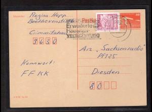 DDR, Mi.-Nr. 2485w auf Ganzsache, geprüft Mayer.