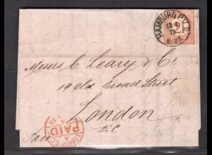 DR, Mi.-Nr. 29 EF., als Auslandbrief nach London.