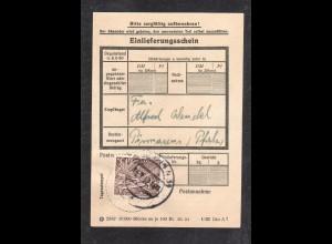 Berlin, Einlieferungsschein mit EF. Mi.-Nr. 48