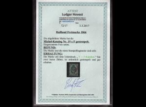 Rußland, Mi.-Nr. 19 x F, gestempelt, FA. Hovest.
