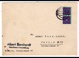 Fern-Brief Me.F. mit 2x Mi.-Nr. 10