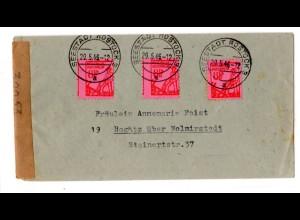Fern-Brief Me.F. mit 3x Mi.-Nr. 11 xb