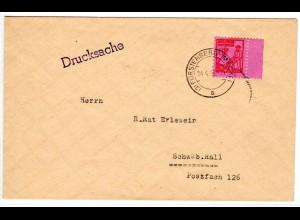Drucksache-Brief mit EF. Mi.-Nr. 11y mit SR.