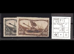 SU. Mi.-Nr. 1064-65 (Tag der Panzertruppen), postfrisch ** (MNH)